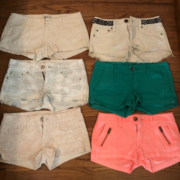 American Eagle Outfitters Pants - 6 pairs of American Eagle Women's Shorts (00/0)